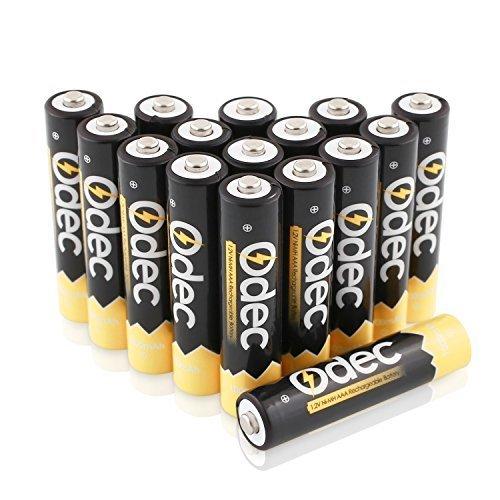 Odec 充電式単4形16個パック ニッケル水素電池 最小容量1000mAh 約1200回使用可能_画像1