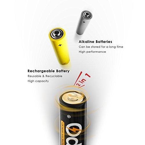 Odec 充電式単4形16個パック ニッケル水素電池 最小容量1000mAh 約1200回使用可能_画像5