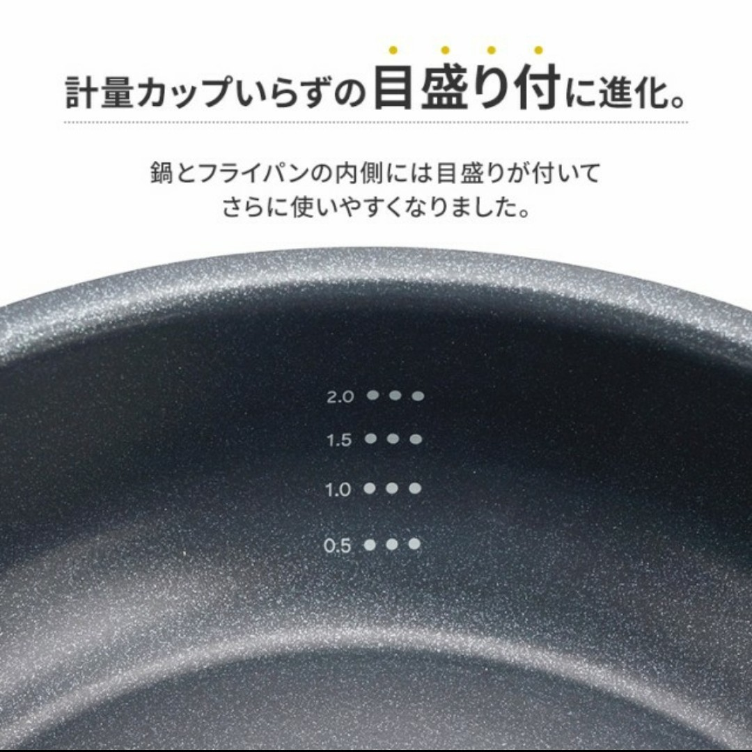ダイヤモンドコートパン 10点セット IH、ガス火用 PDCI-S10S