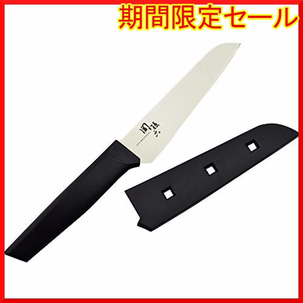 ブラック 24×3.8×1.3cm 貝印 KAI コンパクトナイフ 関孫六 サヤ 付 日本製 DH3342_画像1