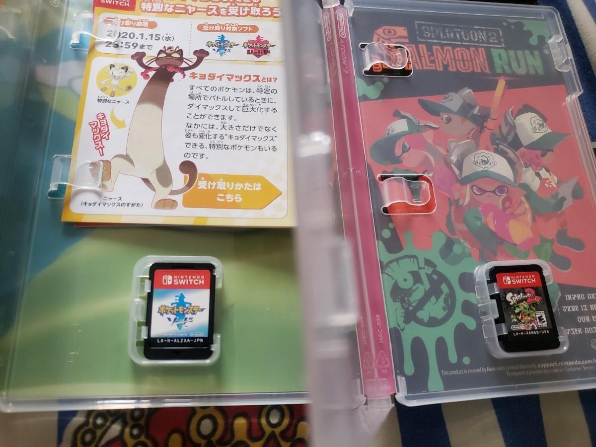 スプラトゥーン2、ポケモンソード Switchソフト ニンテンドースイッチ Nintendo Switch