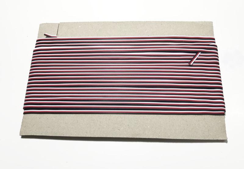 FUTABA色 WRB(白赤黒)高品質22AWGケーブル 20m切り売り(20m+10cm)