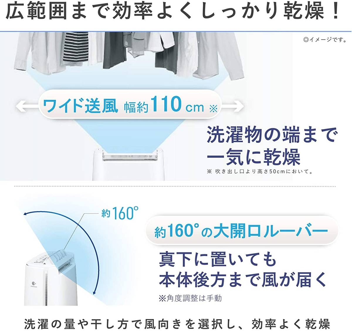 新品■パナソニック 衣類乾燥除湿機 デシカント方式 ~14畳 ピンク F-YZU60-P_画像4