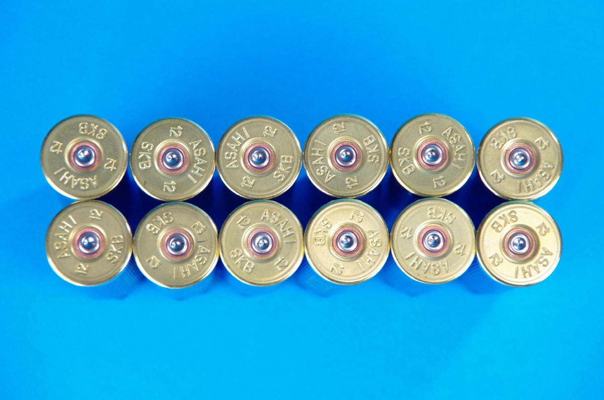 ショットシェル 空薬莢 青 12個セット ■ ショットガンの弾 ダミーカート blue ■ エアガン モデルガン アクセサリ インテリア に_画像2