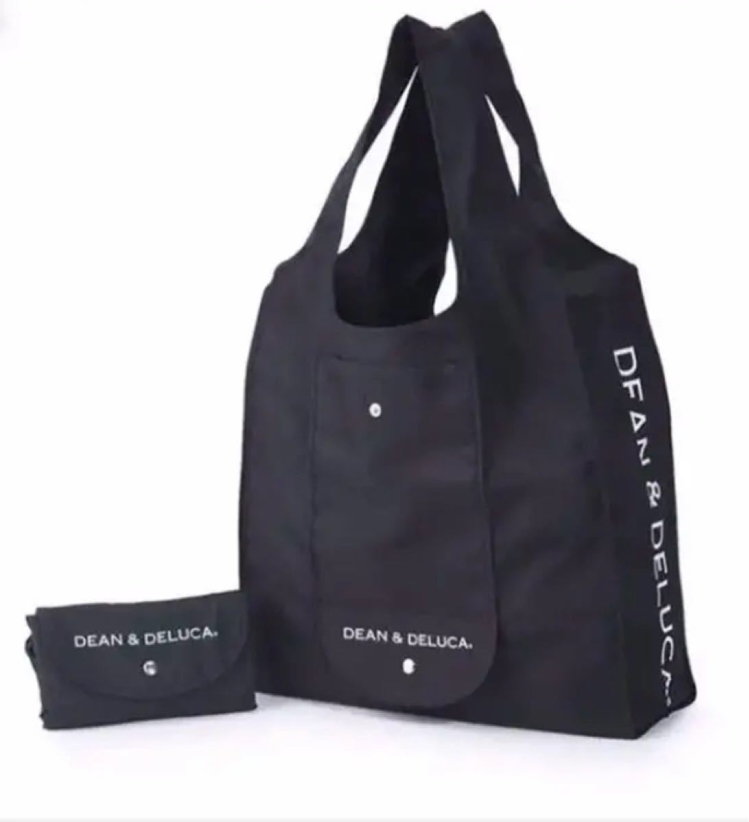 DEAN&DELUCA ショッピングバッグ エコバッグ ディーンアンドデルーカ 黒 ディーン&デルーカ ブラック トートバッグ
