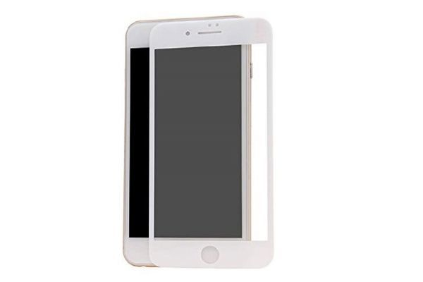 iPhone6 Plus iPhone6s Plus 5.5インチ 9H 0.26mm 枠白色 全面保護 強化ガラス 液晶保護フィルム 2.5D KA20_画像2