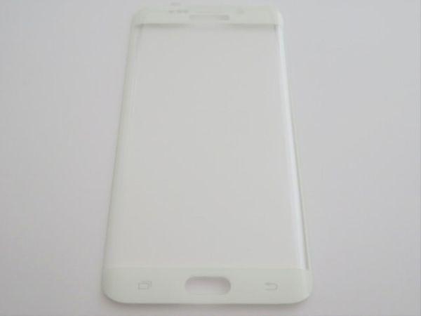Galaxy S6 Edge+Plus 5.7インチ 9H 0.26mm 枠白色 全面保護 強化ガラス 液晶保護フィルム 2.5D KC82_画像2