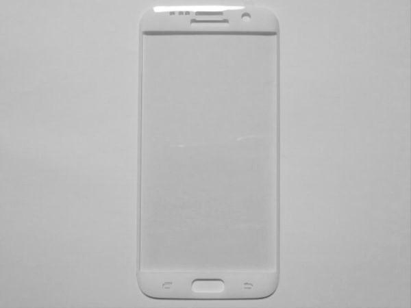 Galaxy S7 edge SC-02H SCV33 9H 0.26mm 枠白色 全面保護 強化ガラス 液晶保護フィルム 2.5D KC98_画像2
