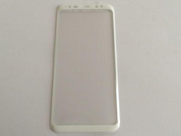Galaxy S8 Plus SC-03J SCV35 6.3インチ 枠白色 全面保護 3D曲面カバー 9H 0.26mm 強化ガラス 液晶保護フィルム 2.5D K357_画像2