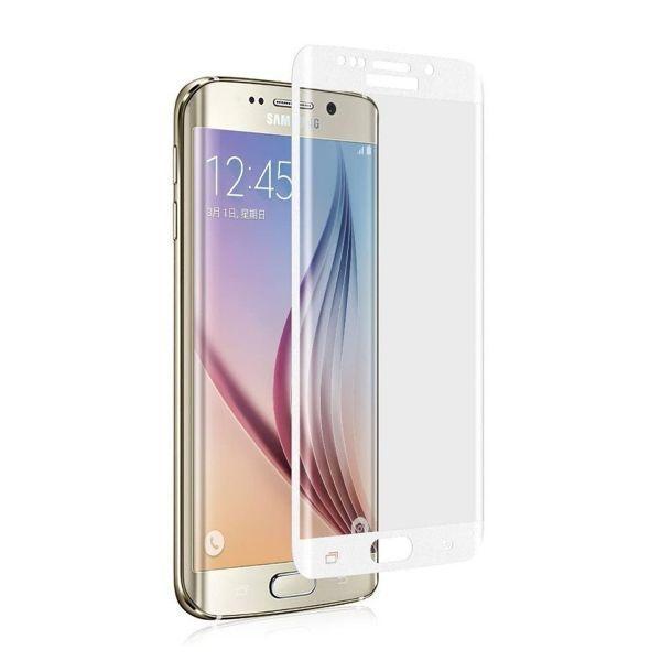 Galaxy S6 Edge+Plus 5.7インチ 9H 0.26mm 枠白色 全面保護 強化ガラス 液晶保護フィルム 2.5D KC82_画像1