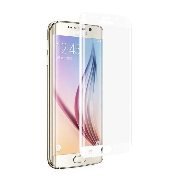 Galaxy S7 edge SC-02H SCV33 9H 0.26mm 枠白色 全面保護 強化ガラス 液晶保護フィルム 2.5D KC98_画像1