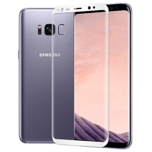 Galaxy S8 Plus SC-03J SCV35 6.3インチ 枠白色 全面保護 3D曲面カバー 9H 0.26mm 強化ガラス 液晶保護フィルム 2.5D K357_画像1