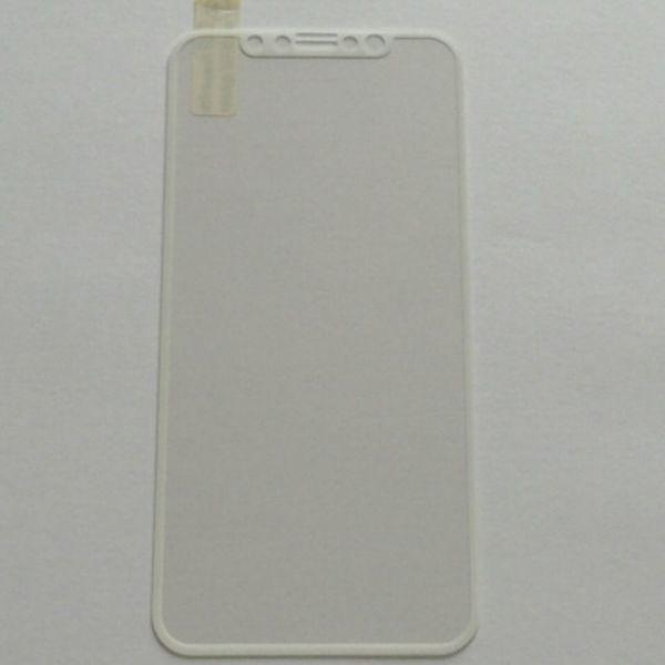 iPhone X iPhone XS 5.8インチ 枠白色 9H 0.26mm 強化ガラス 液晶保護フィルム 2.5D K374_画像2