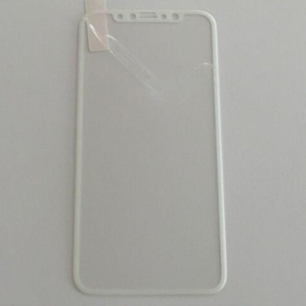 iPhone X iPhone XS 5.8インチ 枠白色 全面保護 3D曲面カバー フチ割れ防止 ソフトエッジ 強化ガラス 液晶保護フィルム 2.5D K396_画像2