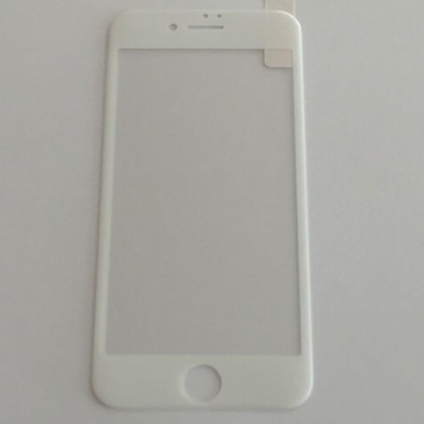 iPhone7 iPhone8 4.7インチ 枠白色 全面保護 3D曲面カバー フチ割れ防止 ソフトエッジ 強化ガラス 液晶保護フィルム 2.5D K398_画像2