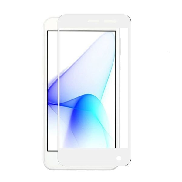 AQUOS ea 606SH Android One 507SH 9H 0.26mm 枠白色 強化ガラス 液晶保護フィルム 2.5D K330_画像1