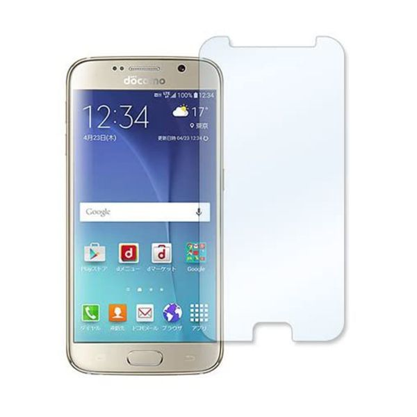 Galaxy S6 edge SC-04G SCV31 404SC 9H 0.3mm 平面のみ保護 強化ガラス 液晶保護フィルム 2.5D K108_画像1