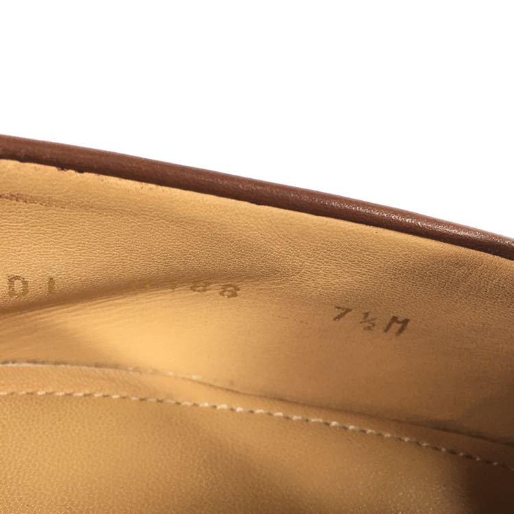 【ルイヴィトン】本物 LOUIS VUITTON 靴 26cm 茶 LV金具 ローファー スリッポン ビジネスシューズ 本革 レザー 男性用 メンズ 伊製 7 1/2_画像10