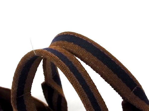1円 HERMES エルメス フールトゥMM キャンバス シルバー金具 トートバッグ ハンドバッグ レディース メンズ ブラウン系 M4191JU_画像6