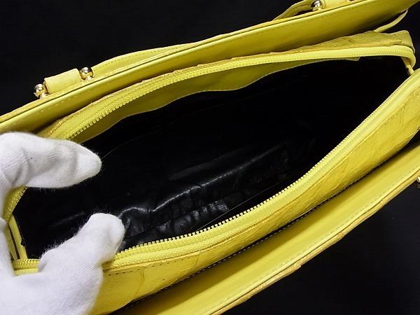 1円 ■極上■本物■美品■ マットクロコダイル ゴールド金具 ハンドバッグ トートバッグ 手提げかばん レディース イエロー系 M4004アN_画像8