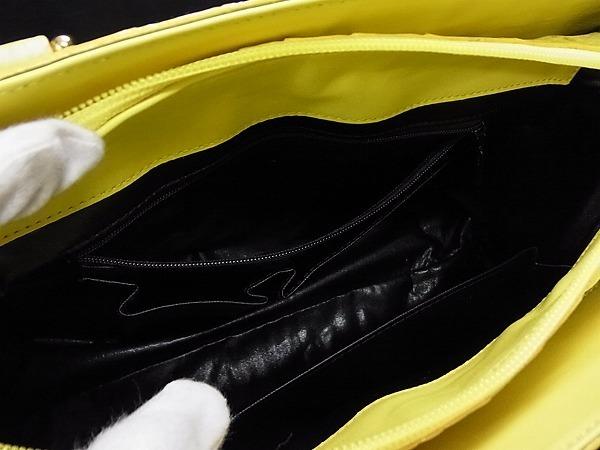 1円 ■極上■本物■美品■ マットクロコダイル ゴールド金具 ハンドバッグ トートバッグ 手提げかばん レディース イエロー系 M4004アN_画像9