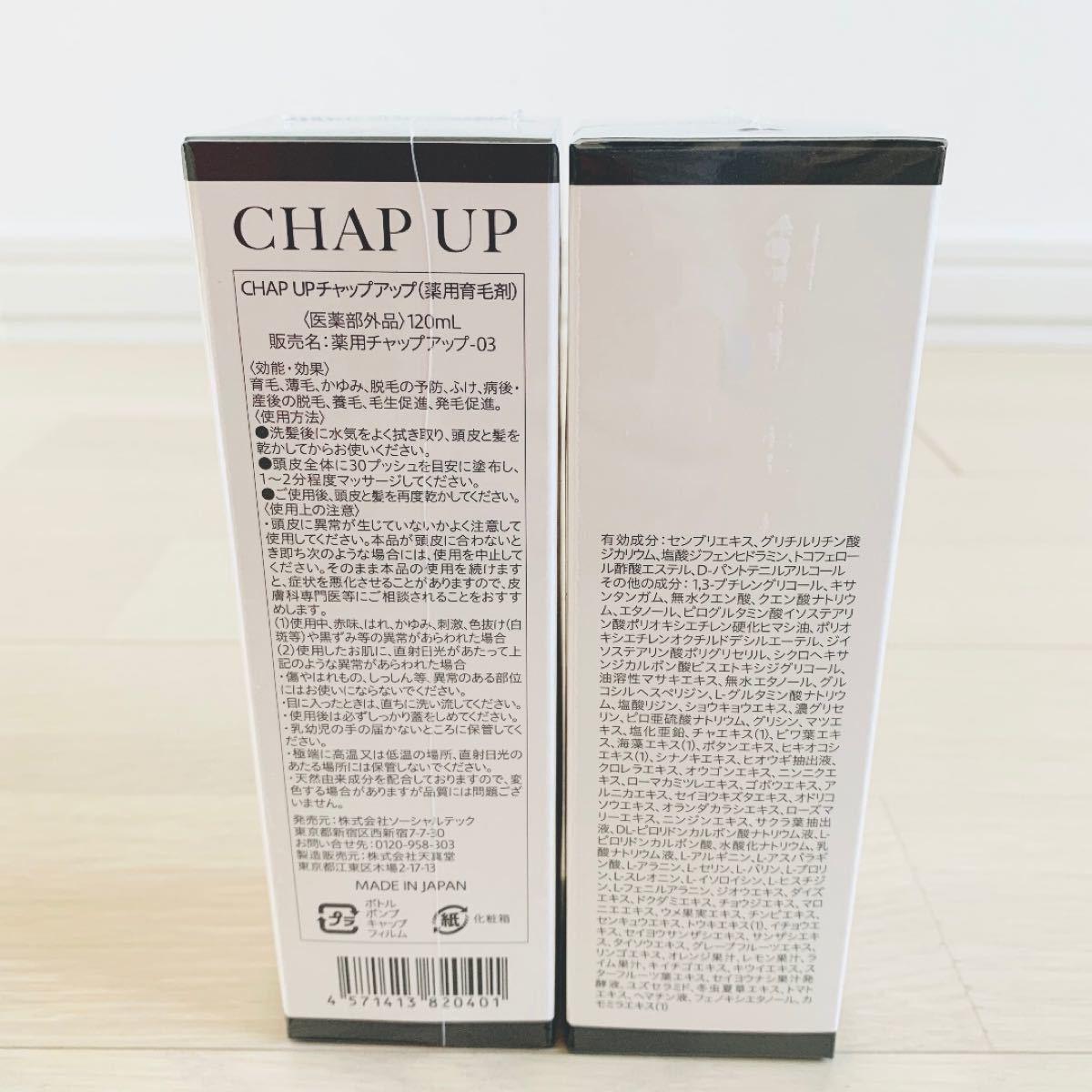 CHAP UP  チャップアップ育毛剤 育毛ローション 120ml  2本セット