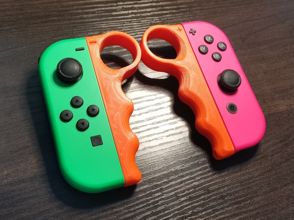 Switch ジョイコン用 フィットボクシング グリップ P型 オレンジ