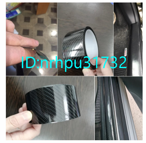 Mz812:カーボンファイバー粘着テープ 車のドアシルプロテクターストリップ スカッフプレートペダルストリップ 傷防止保護テープ_画像2