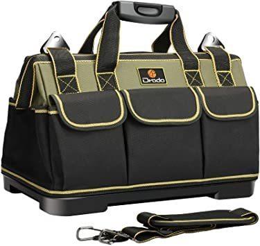 Drado 1680Dオックスフォード 工具袋 大口収納 ベルト付 工具バッグ 道具袋 ツールバッグ 工具差し入れ 特化プラスチ_画像1