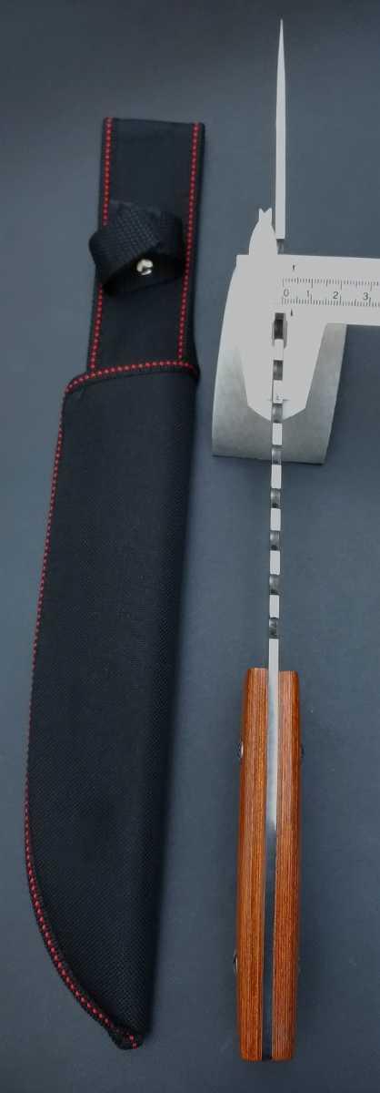 YM1469 大型サバイバルナイフ フルタングナイフ 包丁 テント タープ フィッシング 焚き火 薪割り 料理