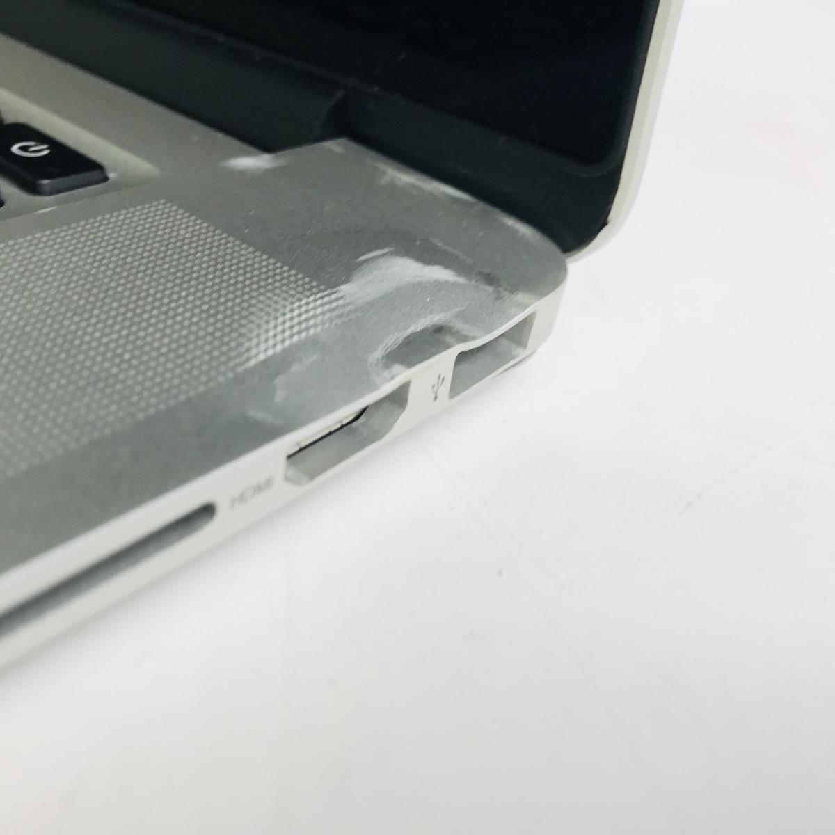 ジャンク MacBook Pro Retina 15インチ(Mid 2012) Core i7 2.3GHz/8GB MC975J/A_画像7