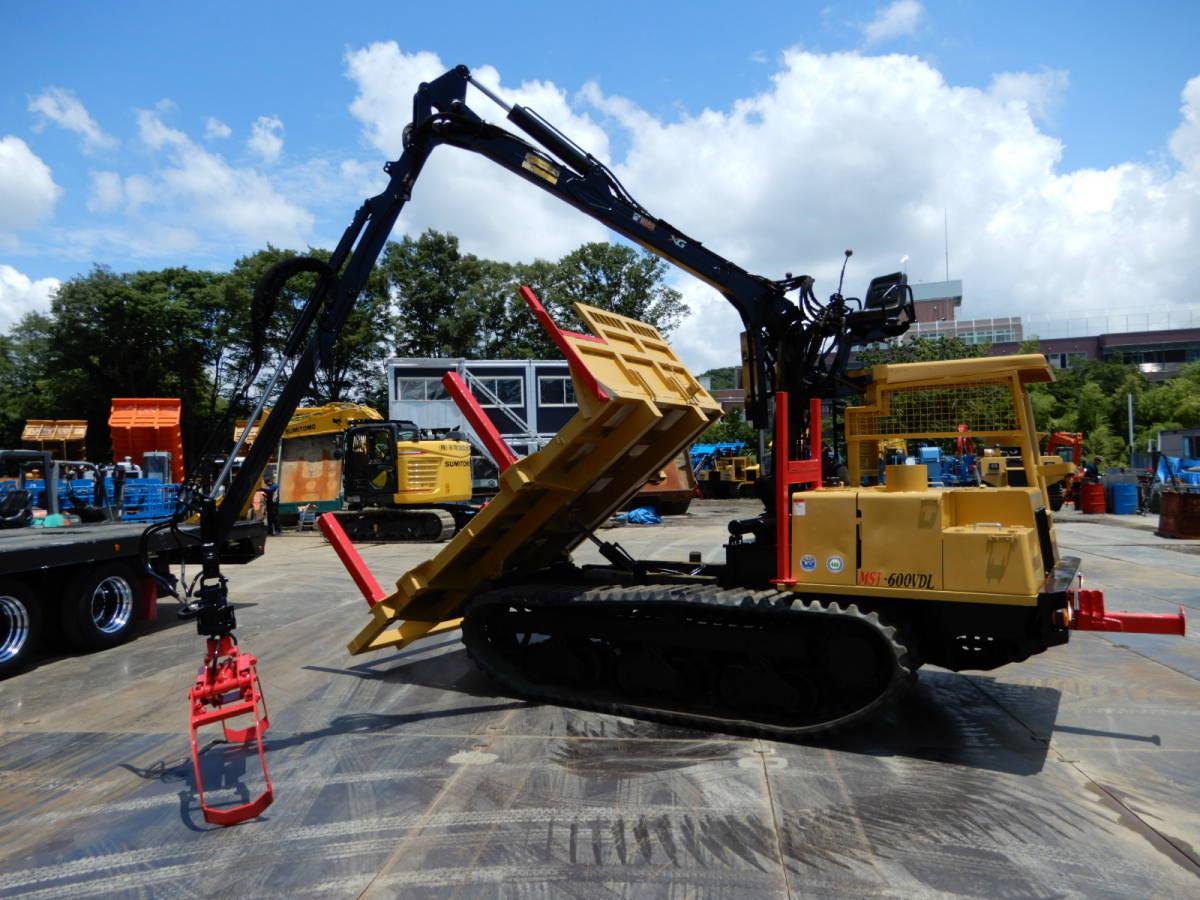 「「即納・全塗装・整備済」モロオカ MST600VDL 2006年車 アワー2250H 最大積載3300㎏ 林業フォワーダー クローラーダンプ 林業機械 」の画像1