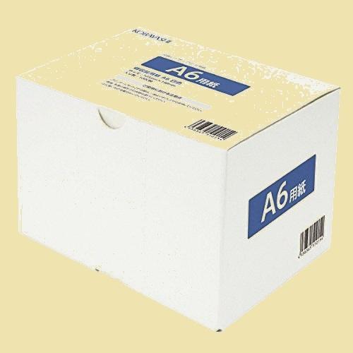 未使用 新品 A6 コピ-用紙 8-7W 1000枚 上質紙 白色度80% 紙厚0.092mm_画像1