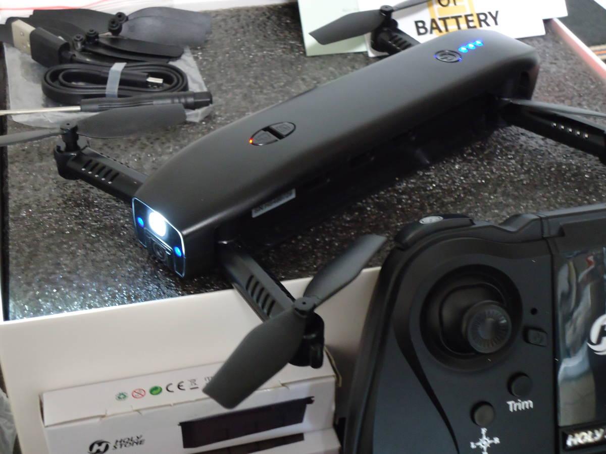 【バッテリー3個付】 Holy Stone HS161 ドローン カメラ付 折りたたみ式1080P 200g未満 超安定(室内初心者向け) モバイルバッテリー