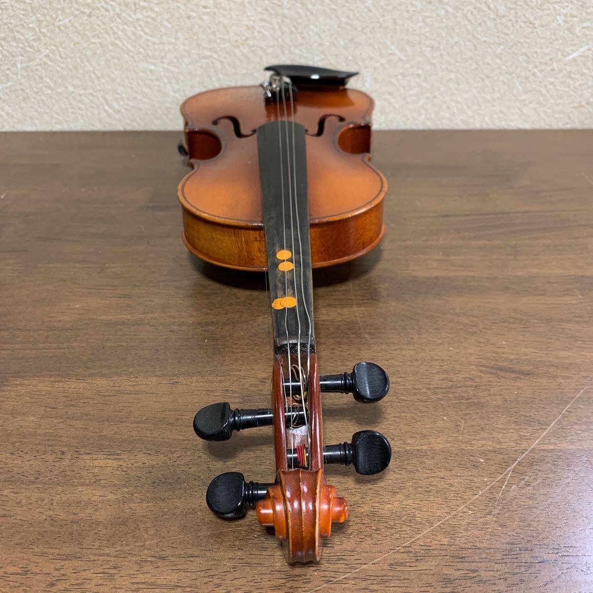 1円スタート SUZUKI 鈴木バイオリン スズキ バイオリン ハードケース付 弦楽器 中古 ジャンク_画像7