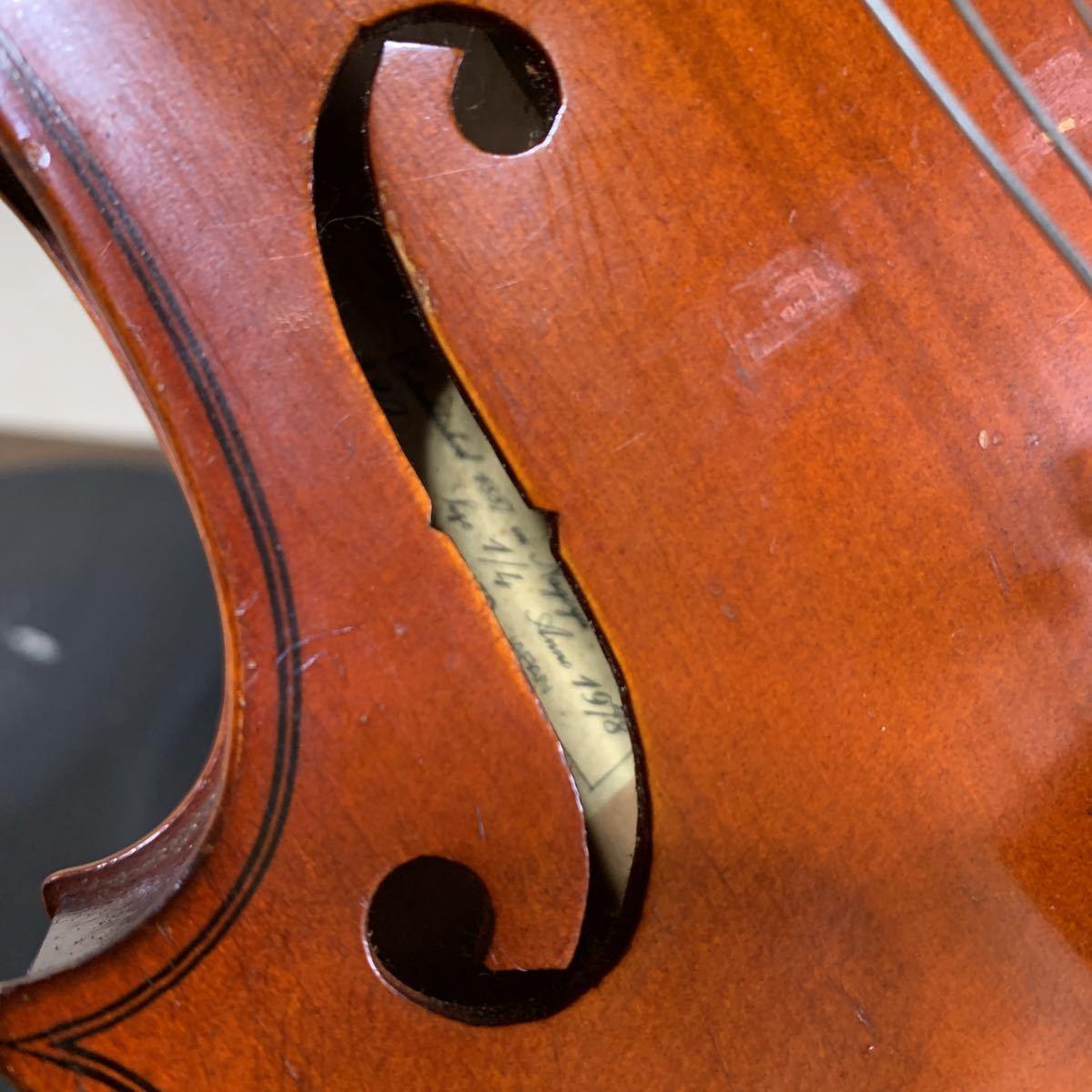 1円スタート SUZUKI 鈴木バイオリン スズキ バイオリン ハードケース付 弦楽器 中古 ジャンク_画像5