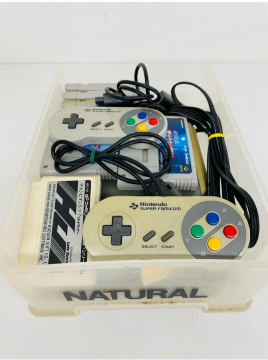 スーパーファミコン 本体・コントーラー2個 カセット6個付き