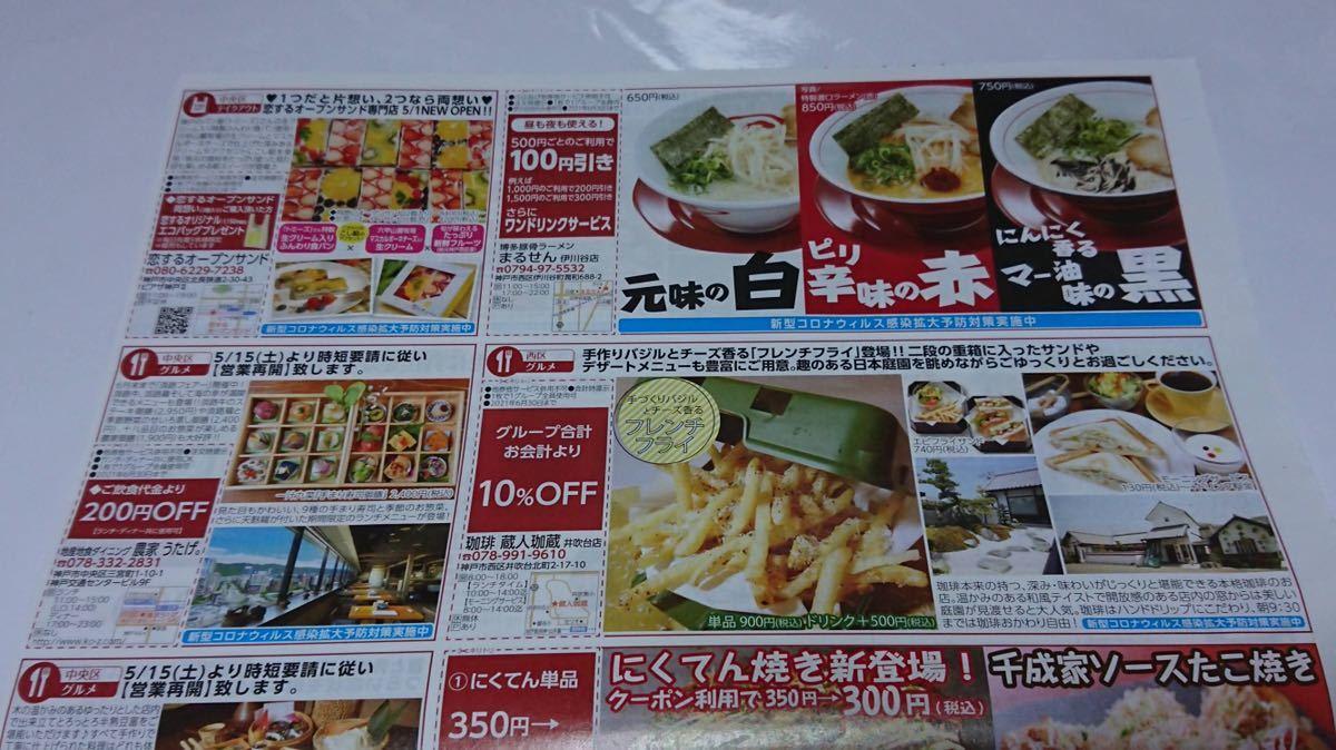 神戸新聞 使っ得クーポン 5.6月号 割引券 クーポン 有効期限 2021年6月30日迄_画像3