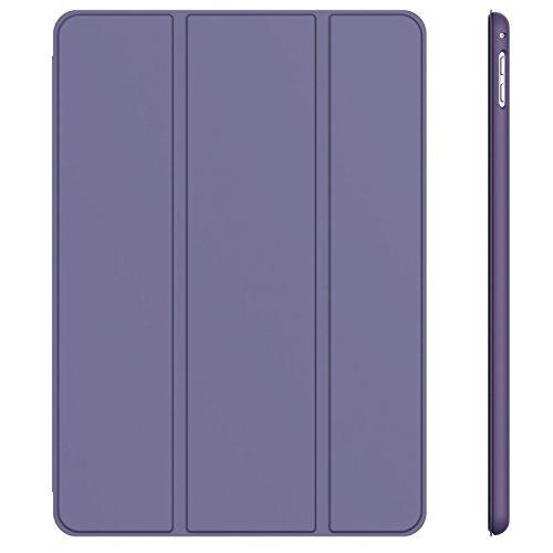 パープル スマートカバー iPad Pro JEDirect 三つ折スタンド オートスリープ機能 9.7 レザー ケース (パー_画像1