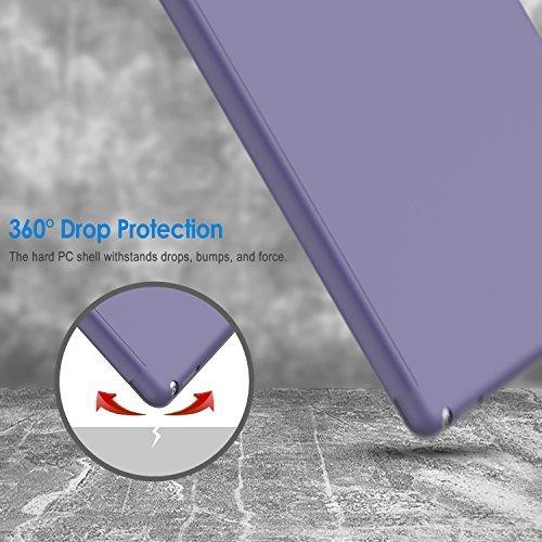 パープル スマートカバー iPad Pro JEDirect 三つ折スタンド オートスリープ機能 9.7 レザー ケース (パー_画像6