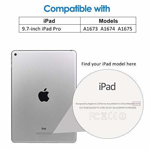パープル スマートカバー iPad Pro JEDirect 三つ折スタンド オートスリープ機能 9.7 レザー ケース (パー_画像2