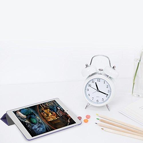 パープル スマートカバー iPad Pro JEDirect 三つ折スタンド オートスリープ機能 9.7 レザー ケース (パー_画像7