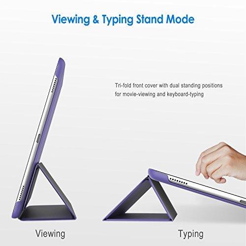 パープル スマートカバー iPad Pro JEDirect 三つ折スタンド オートスリープ機能 9.7 レザー ケース (パー_画像3