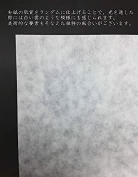 白 A4判 50枚 【Amazon.co.jp 限定】和紙かわ澄 OA和紙 雲水 白 A4判 50枚_画像3