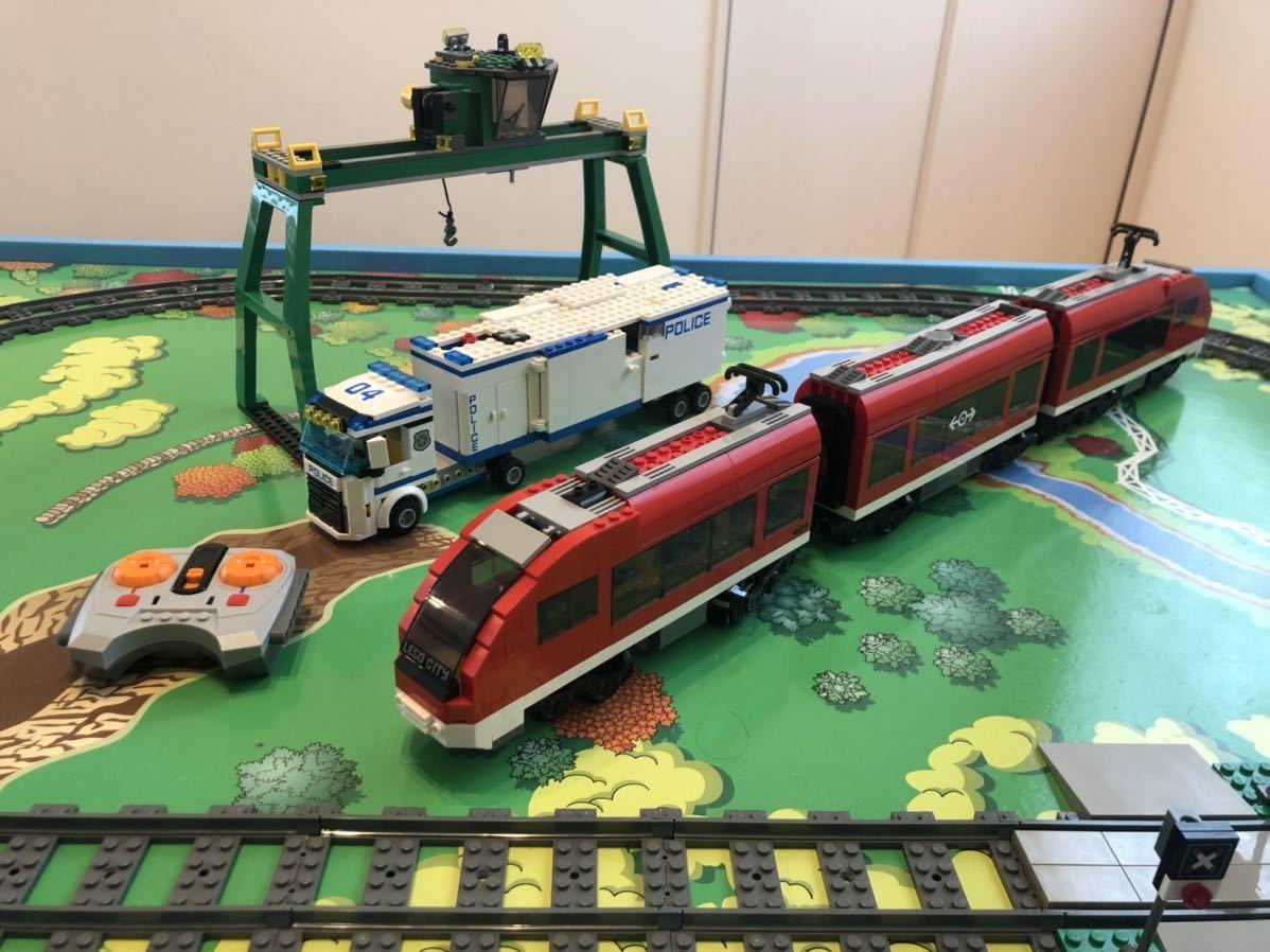 LEGO レゴシティ トレイン ポリストラック レールセット クレーン付き ミニフィグなし