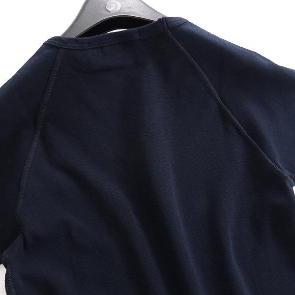 新品 オロビアンコ イタリア製 ラグラン Vネック 半袖 ニットソー S 紺 【I45273】 Orobianco Tシャツ 春夏 メンズ サマー カットソー_画像3