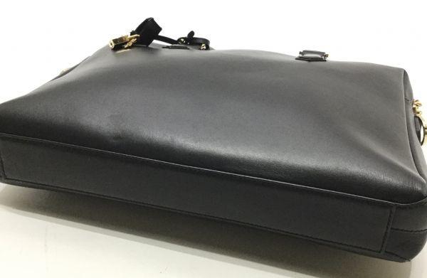 正規品 DOLCE&GABBANA レザーブリーフケース ドルチェ&ガッバーナ ドルガバ D&G ビジネスバッグ BAG カーフレザー 黒 ブラック 近年物 YB_画像5