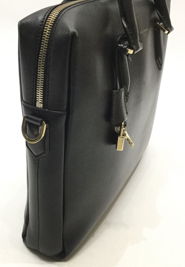 正規品 DOLCE&GABBANA レザーブリーフケース ドルチェ&ガッバーナ ドルガバ D&G ビジネスバッグ BAG カーフレザー 黒 ブラック 近年物 YB_画像6