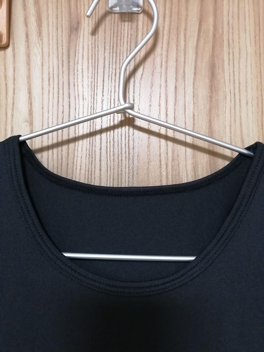 スポーツインナー ストレッチ ドライ アベイル ブラック Mサイズ 半袖Tシャツ