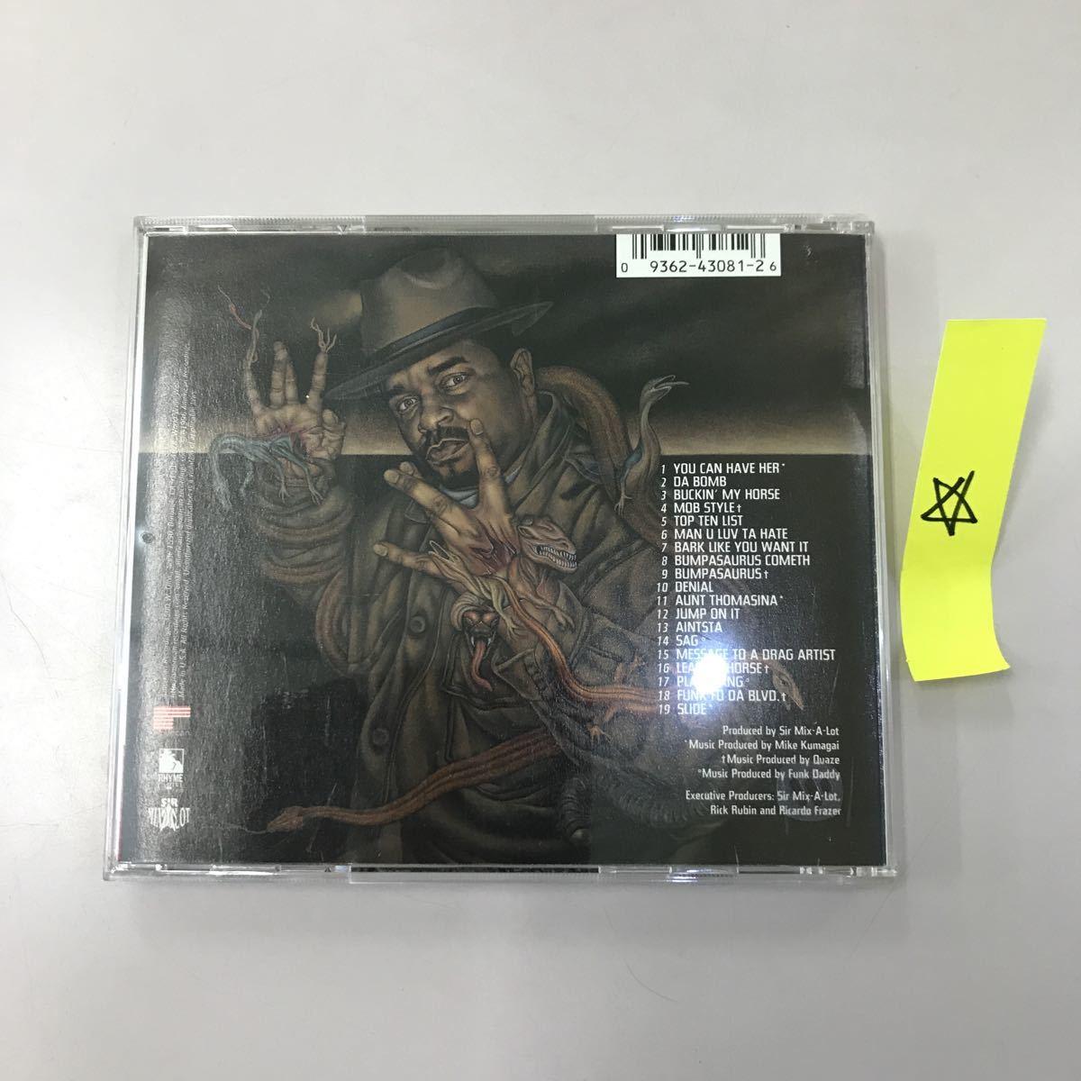 CD 輸入盤 中古【洋楽】長期保存品 SIR MIX A LOT RETURN OF THE BUMPASAURUS